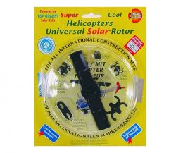 Solar powered Universal Rotor for construction toys
