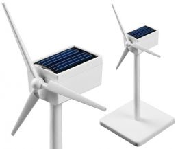 Mini solar powered wind generator - white