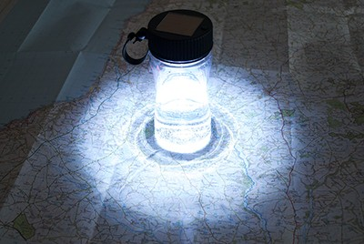 Lightcup Solar Powered Led Water Bottle Reading Lamp