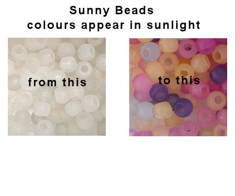 Uv Colour Changing Sunny Beads Mixed Colours Select
